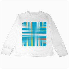Lines Blue Stripes Kids Long Sleeve T Shirts by Mariart