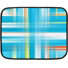 Lines Blue Stripes Fleece Blanket (mini) by Mariart