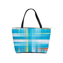 Lines Blue Stripes Shoulder Handbags by Mariart