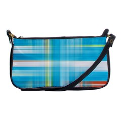 Lines Blue Stripes Shoulder Clutch Bags by Mariart
