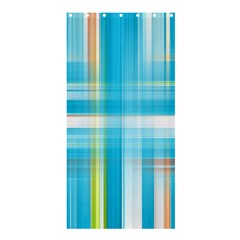 Lines Blue Stripes Shower Curtain 36  X 72  (stall)  by Mariart