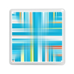 Lines Blue Stripes Memory Card Reader (square)  by Mariart