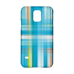 Lines Blue Stripes Samsung Galaxy S5 Hardshell Case  by Mariart