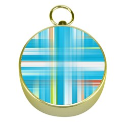 Lines Blue Stripes Gold Compasses by Mariart
