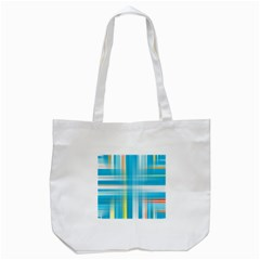 Lines Blue Stripes Tote Bag (white) by Mariart