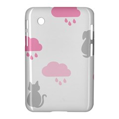 Raining Cats Dogs White Pink Cloud Rain Samsung Galaxy Tab 2 (7 ) P3100 Hardshell Case  by Mariart