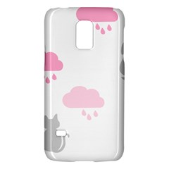 Raining Cats Dogs White Pink Cloud Rain Galaxy S5 Mini by Mariart