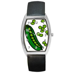Peas Green Peanute Circle Barrel Style Metal Watch by Mariart
