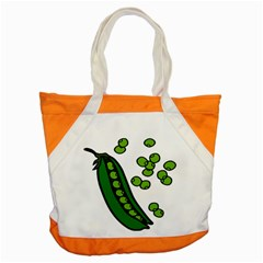 Peas Green Peanute Circle Accent Tote Bag by Mariart