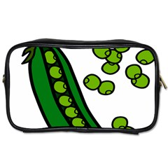 Peas Green Peanute Circle Toiletries Bags by Mariart
