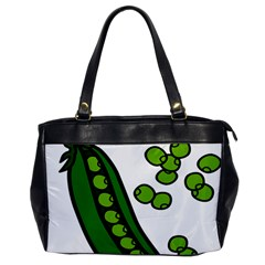 Peas Green Peanute Circle Office Handbags by Mariart