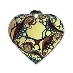 Labels Net Circle Brown Dog Tag Heart (two Sides) by Mariart