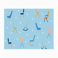 Seat Blue Polka Dot Small Glasses Cloth by Mariart