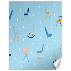 Seat Blue Polka Dot Canvas 12  X 16   by Mariart