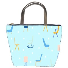 Seat Blue Polka Dot Bucket Bags by Mariart