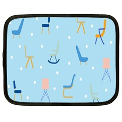Seat Blue Polka Dot Netbook Case (xl)  by Mariart