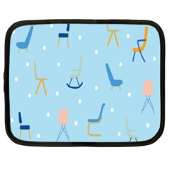 Seat Blue Polka Dot Netbook Case (xxl)  by Mariart