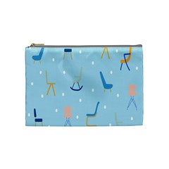 Seat Blue Polka Dot Cosmetic Bag (medium)  by Mariart