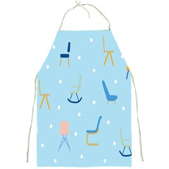 Seat Blue Polka Dot Full Print Aprons by Mariart