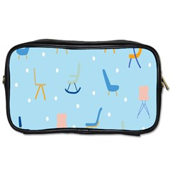 Seat Blue Polka Dot Toiletries Bags 2 Side by Mariart