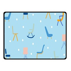Seat Blue Polka Dot Fleece Blanket (small) by Mariart