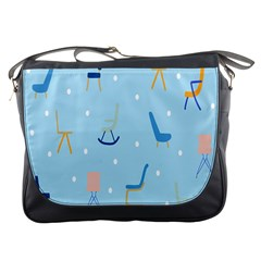 Seat Blue Polka Dot Messenger Bags by Mariart
