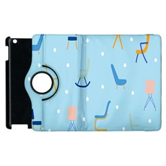Seat Blue Polka Dot Apple Ipad 2 Flip 360 Case by Mariart