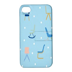 Seat Blue Polka Dot Apple Iphone 4/4s Hardshell Case With Stand by Mariart