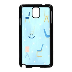 Seat Blue Polka Dot Samsung Galaxy Note 3 Neo Hardshell Case (black) by Mariart