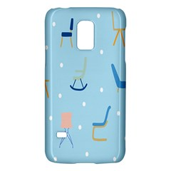 Seat Blue Polka Dot Galaxy S5 Mini by Mariart