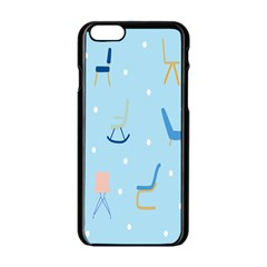 Seat Blue Polka Dot Apple Iphone 6/6s Black Enamel Case by Mariart
