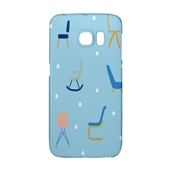 Seat Blue Polka Dot Galaxy S6 Edge by Mariart