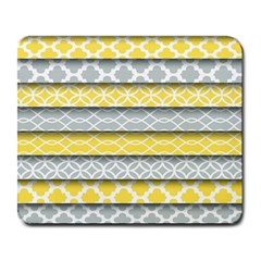 Paper Yellow Grey Digital Large Mousepads by Mariart