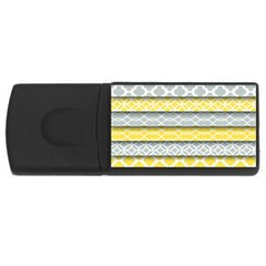 Paper Yellow Grey Digital Usb Flash Drive Rectangular (4 Gb) by Mariart