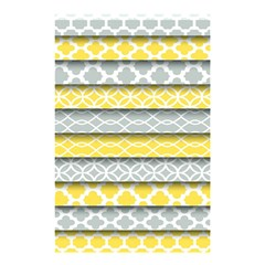 Paper Yellow Grey Digital Shower Curtain 48  X 72  (small)  by Mariart