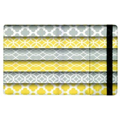 Paper Yellow Grey Digital Apple Ipad 3/4 Flip Case by Mariart