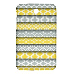 Paper Yellow Grey Digital Samsung Galaxy Tab 3 (7 ) P3200 Hardshell Case  by Mariart