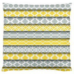 Paper Yellow Grey Digital Large Flano Cushion Case (one Side) by Mariart