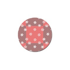 Seed Life Seamless Remix Flower Floral Red White Golf Ball Marker by Mariart