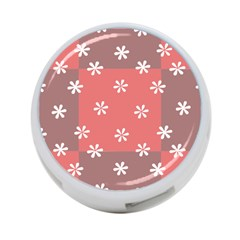 Seed Life Seamless Remix Flower Floral Red White 4 Port Usb Hub (two Sides)  by Mariart