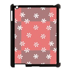 Seed Life Seamless Remix Flower Floral Red White Apple Ipad 3/4 Case (black) by Mariart