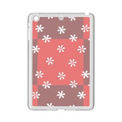 Seed Life Seamless Remix Flower Floral Red White Ipad Mini 2 Enamel Coated Cases