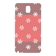 Seed Life Seamless Remix Flower Floral Red White Samsung Galaxy Note 3 N9005 Hardshell Back Case by Mariart