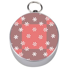 Seed Life Seamless Remix Flower Floral Red White Silver Compasses by Mariart