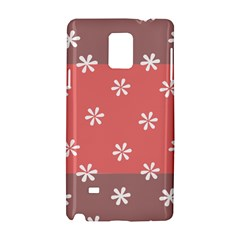 Seed Life Seamless Remix Flower Floral Red White Samsung Galaxy Note 4 Hardshell Case by Mariart