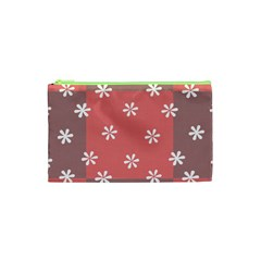 Seed Life Seamless Remix Flower Floral Red White Cosmetic Bag (xs) by Mariart
