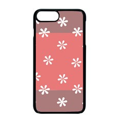 Seed Life Seamless Remix Flower Floral Red White Apple Iphone 7 Plus Seamless Case (black) by Mariart