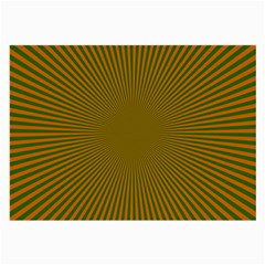 Stripy Starburst Effect Light Orange Green Line Large Glasses Cloth by Mariart