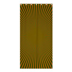 Stripy Starburst Effect Light Orange Green Line Shower Curtain 36  X 72  (stall)
