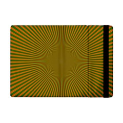 Stripy Starburst Effect Light Orange Green Line Ipad Mini 2 Flip Cases by Mariart